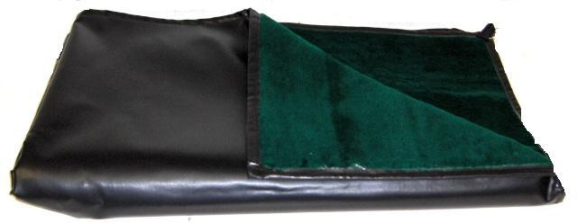 Black Rubber Lap Blanket