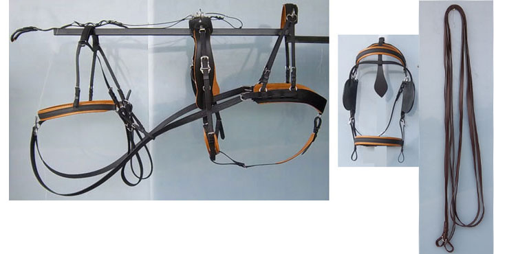 Single Marathon Harness With Tan ccolored padding